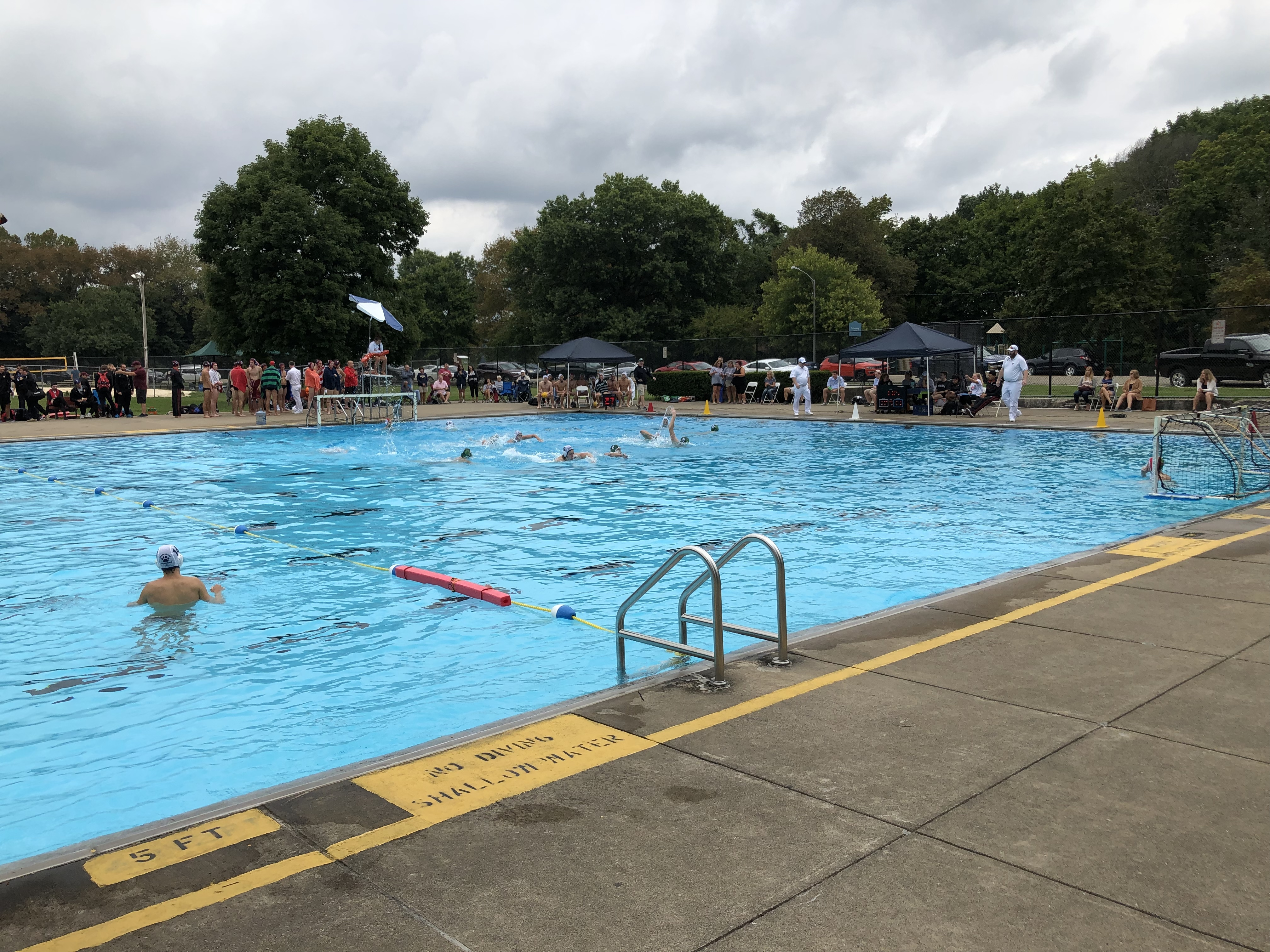 Long view of water polo at HPP