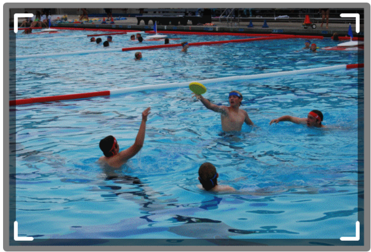 SKWIM player elevates to send a pass.