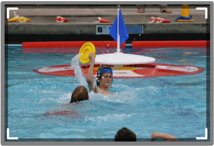 SKWIM player getting ready for a rainbow pass